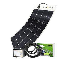 Unlimited Solar 100 Watt 36V Golf Cart Flexible Solar Chargi