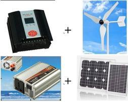 Gowe® 100w Hybrid System, 50w Wind Generator+300w Hybrid Co