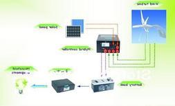 Gowe® 800w Solar Wind Hybrid System,300w Wind Turbine+250w