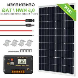 500W Off Grid Complete Kit: 5x 100W PV Solar Cell Panel 12V