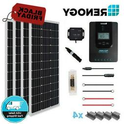 Renogy 400 Watt 12 Volt Off Grid Solar Premium Kit with Mono