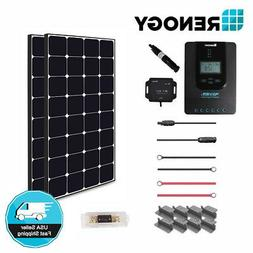 Renogy 200 Watt 12 Volt Off Grid Solar Premium Kit with Ecli
