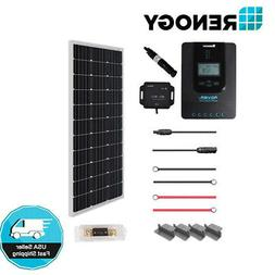 Renogy 100 Watt 12 Volt Off Grid Solar Premium Kit with Mono