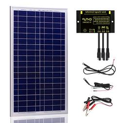 SUNER POWER 30 Watts 12V Off Grid Solar Panel Kit - Waterpro