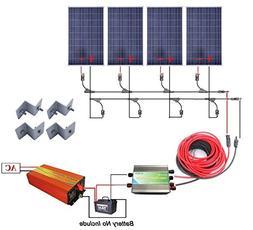 400 Watts Off Grid Solar Power System: 4pcs 100w Polycrystal