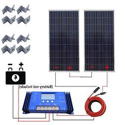 ECO LLC 300W 24V off Grid Solar System Kit w/ 60A Solar Char