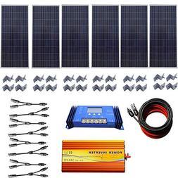 ECO LLC 900W 24V Off Grid Solar System kit 6x150W Solar Pane