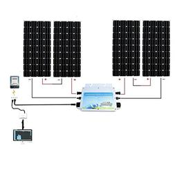 ECO-WORTHY 600W Grid Tie Solar Panel Kit: 600W MPPT Waterpro