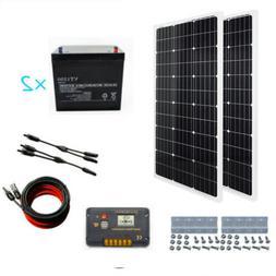 500W Grid Tie Solar System 5pcs 100W Solar Panel w/ Power In