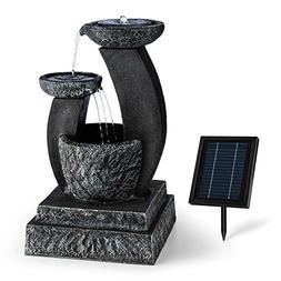 Blumfeldt Grosseto • 3-Tier Outdoor Solar Powered Garden F