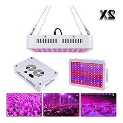 2 X 1000W LED Grow Light Full Spectrum for Indoor Hydro Veg