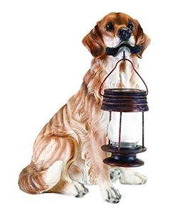 GTMax Tan/Brown Retriever Dog Carry Solar Lantern B5190A