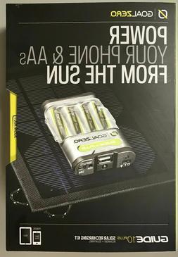 Goal Zero Guide 10 Plus Solar Recharging Kit NEW IN BOX, Fac