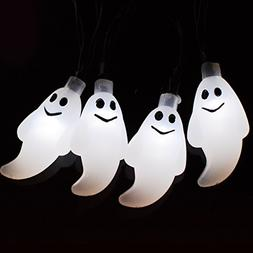 Halloween Ghost Solar Lights,Solar Powered Waterproof 20 ft