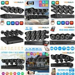 HD 1080P 8CH AHD DVR 3000TVL Outdoor CCTV Home Security Came