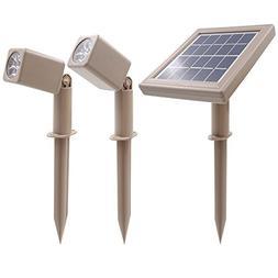 HEX 30X Twin Solar Spotlight Warm White LED for Outdoor Gard