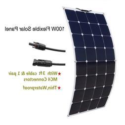 High Efficiency Mono Solar Panel flexible 100W Watt 18V For