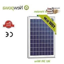Newpowa High Efficiency Solar Panel 10 Watts 12 Volts Polycr