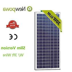 NewPowa High Quality 30W 12V Polycrystalline Solar Panel RV