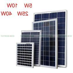 High Quality 5W/10W/25W/40W Solar Panel for 12V Camping Outd