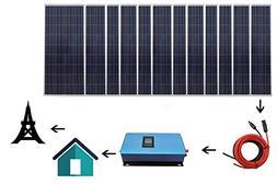 home grid tie solar kit