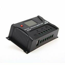 HQST 20 Amp 12V 24V PWM Solar Panel Regulator Charge Control