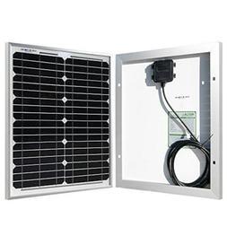 HQST 20 Watt 12 Volt Monocrystalline Solar Panel for DC 12V
