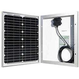HQST 20 Watt 12 Volt Monocrystalline Solar Panel