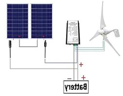 ECO-WORTHY 24V 600W Hybrid System Kit: 400W Wind Turbine Gen