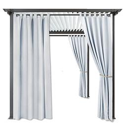 RYB HOME Privacy Outdoor Curtain - Fade Resistant Light Bloc