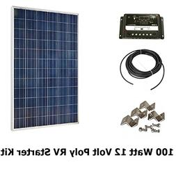 Infinium 100 Watt Solar Panel Complete Off-Grid RV Boat Kit