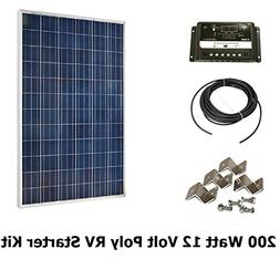 Infinium 200 Watt Solar Panel Complete Off-Grid RV Boat Kit