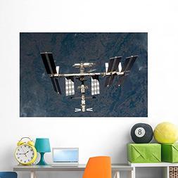 International Space Station Wall Mural by Wallmonkeys Peel a