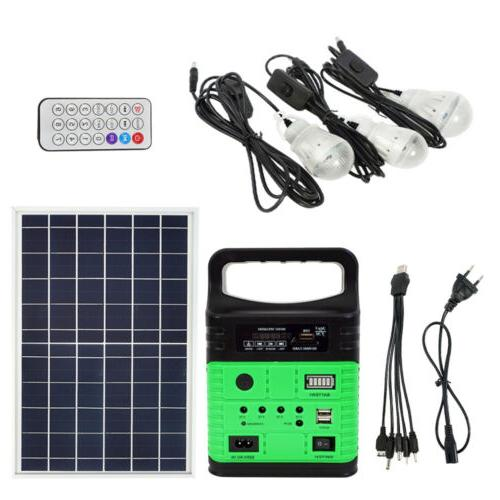 Solar Power Panel LED Charger Home Outdoor/Garden