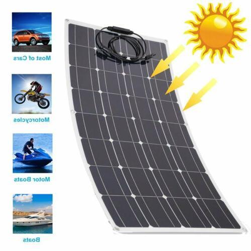120 Watt Mono Flexible Solar Panel 12V Off Grid Battery Char