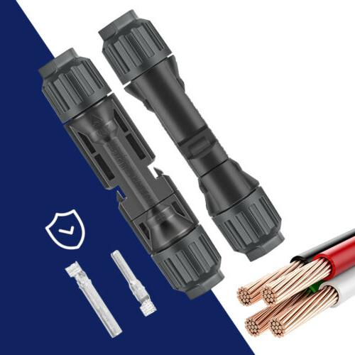 1 Pair Adapter Male Female Solar Panel Wire Cable Connector
