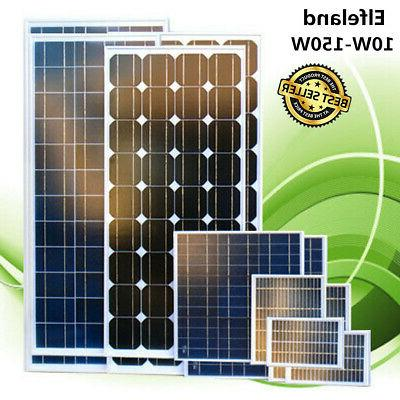 10 150w 18v poly solar panel battery