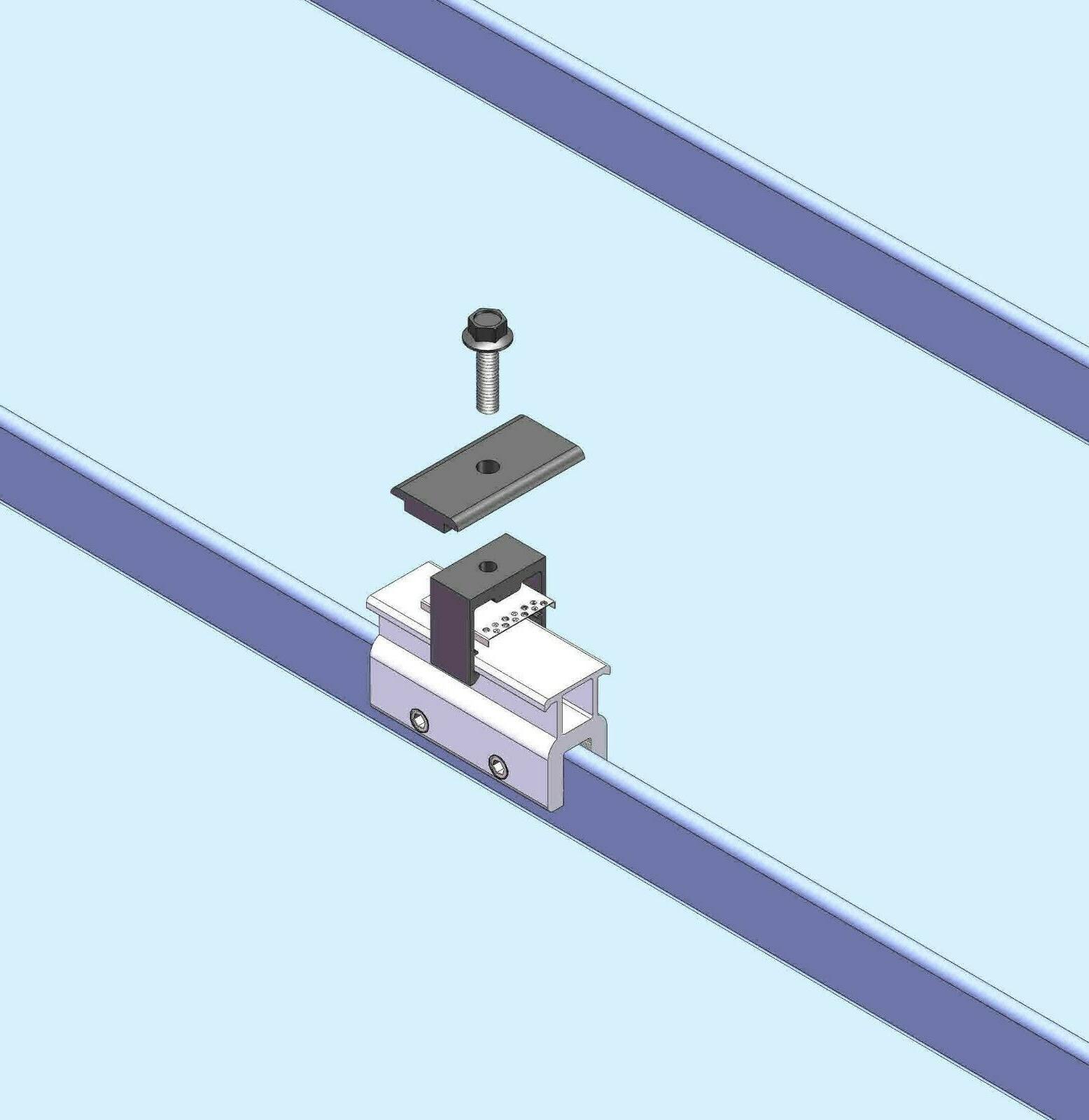 10 Mid Seam Roof Panel Racking Kits