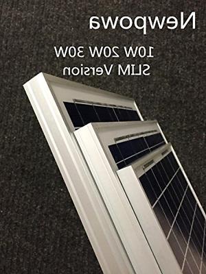 Newpowa 10 Watts Volts Solar 10W 12V High Efficiency M