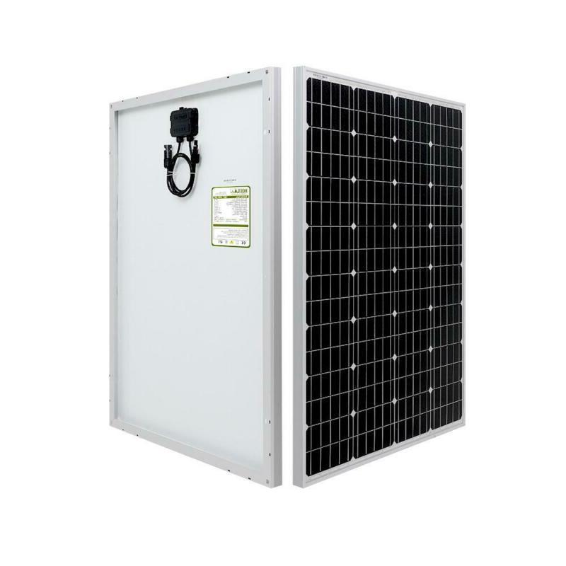 100 Watt 12 Volt Monocrystalline Solar Panel Built In Fuses