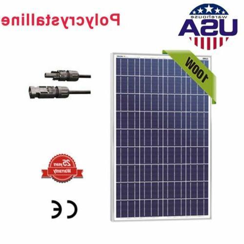 100W 100 Watt 12 Volt Polycrystalline Solar Panel High Effic