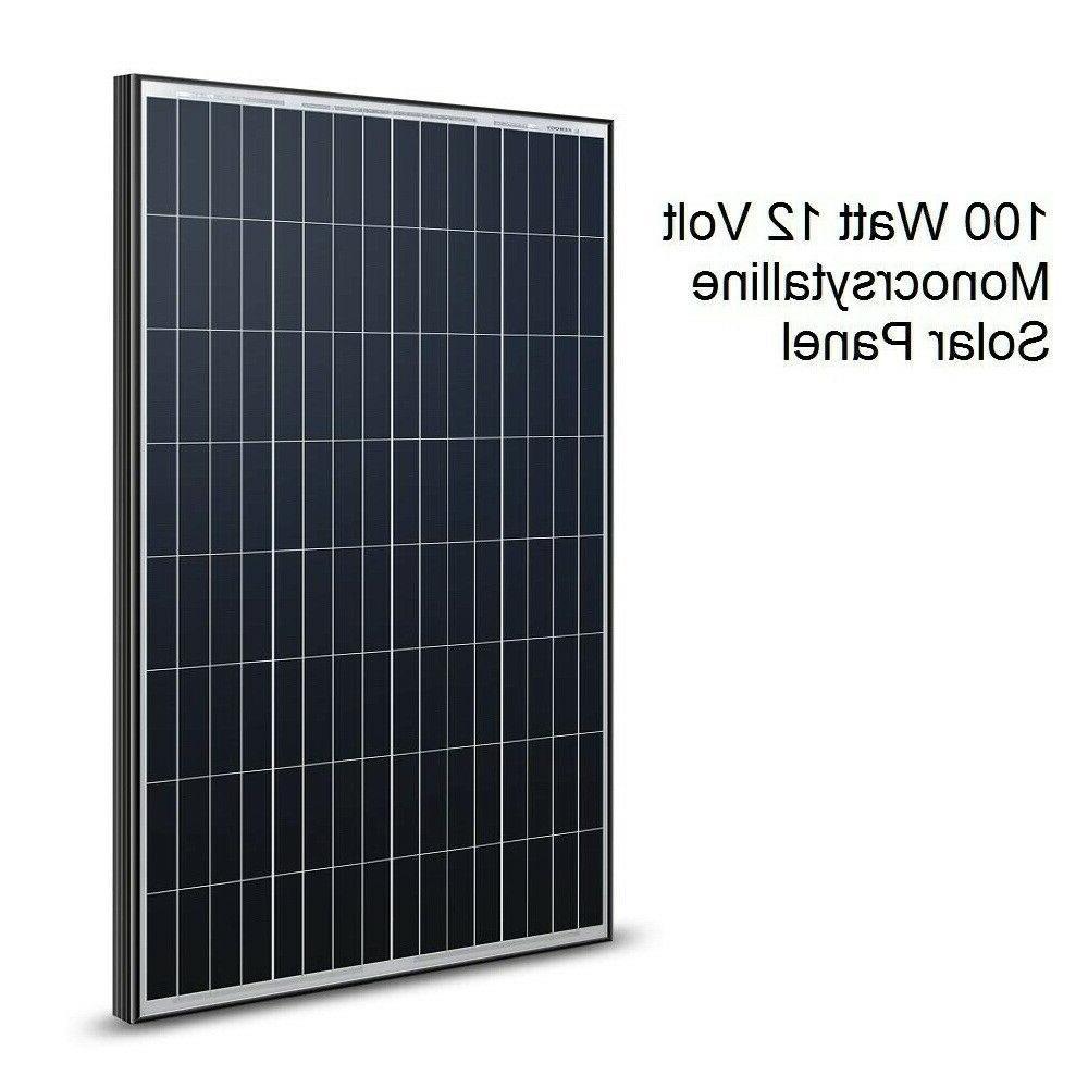 Renogy 100 Watt Volt Solar Panel 12V Off RV Boat Garden