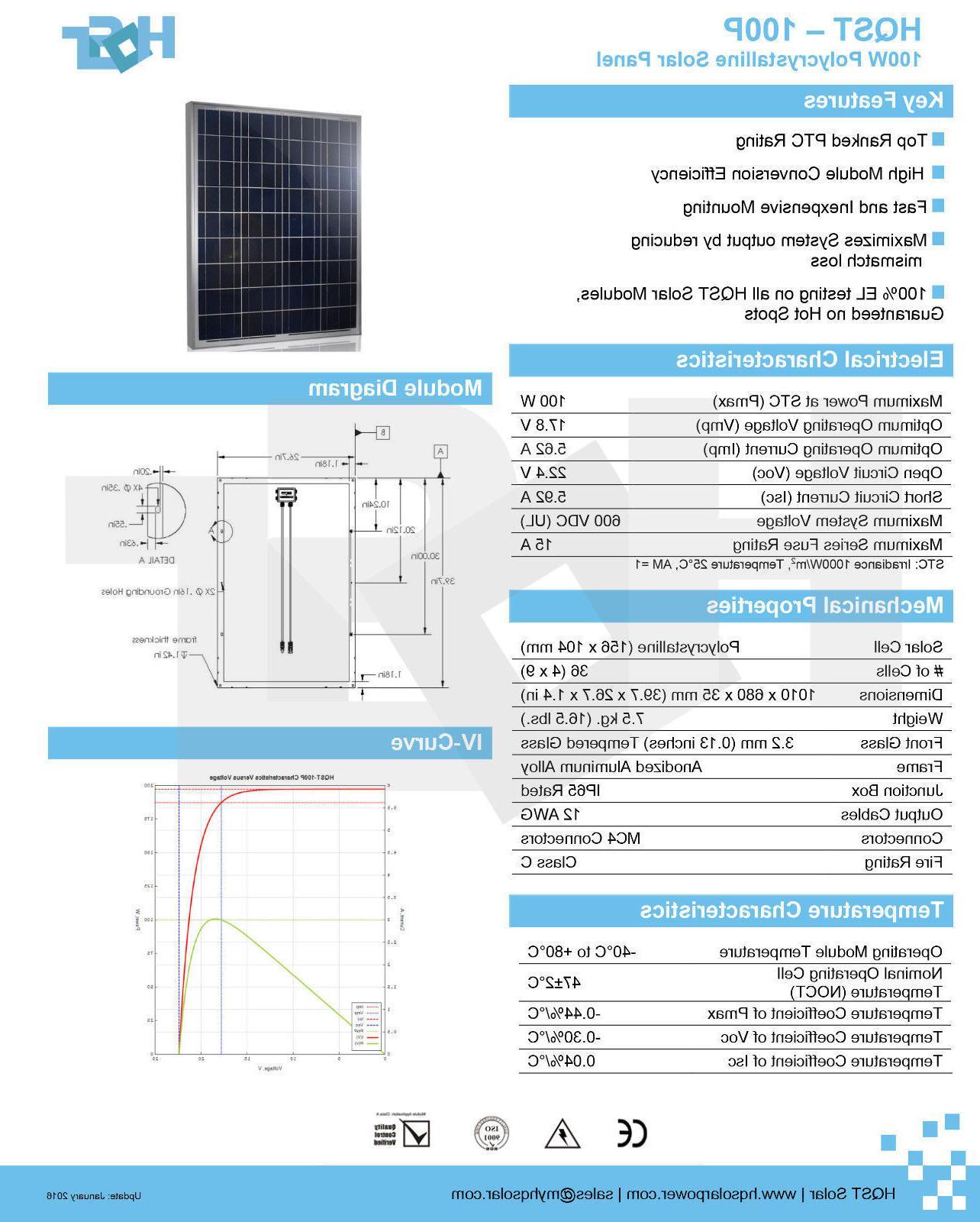 100 12 Solar Controller 12V Charger Grid