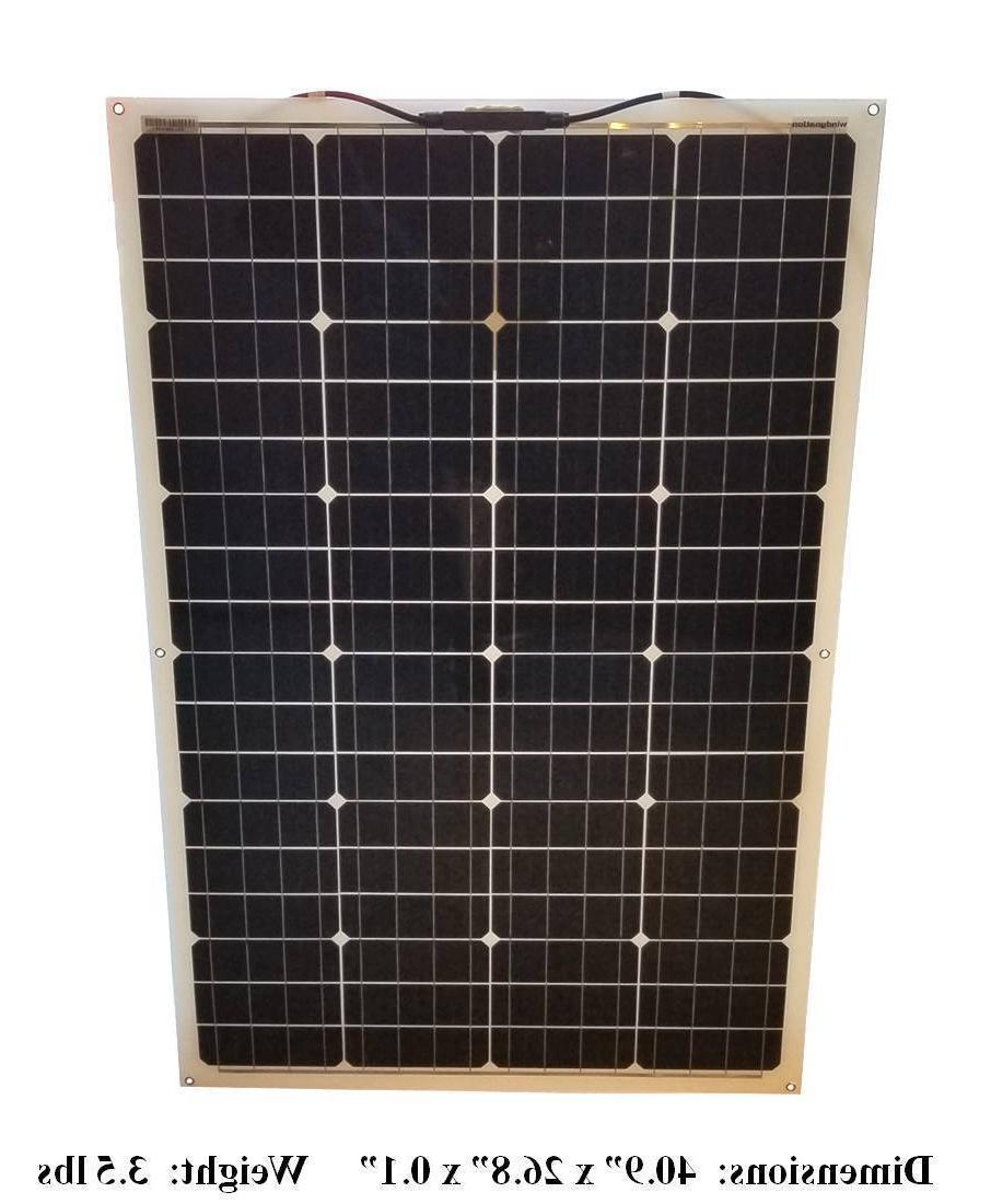 WindyNation 100 Watt 12V Flexible Solar Monocrystalline Cells