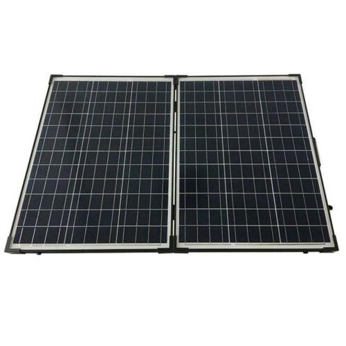 HQST 100 12Volt Polycrystalline Foldable Solar Panel Suitcase with...