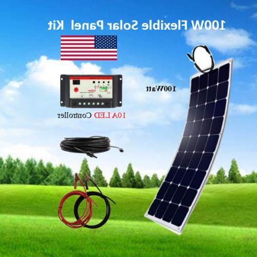 100 watt flexible solar panel rv kit