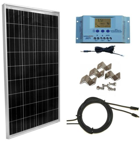 WindyNation 100 Watt Solar Panel Off-Grid RV Boat Kit with L