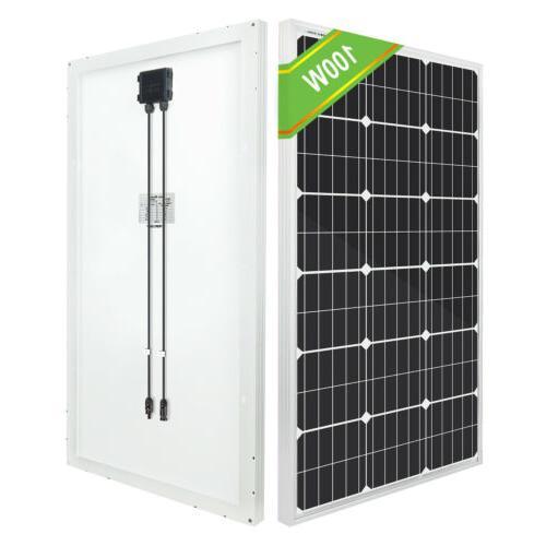 ECO-WORTHY 120W 100 Monocrystalline Solar Panel 12V