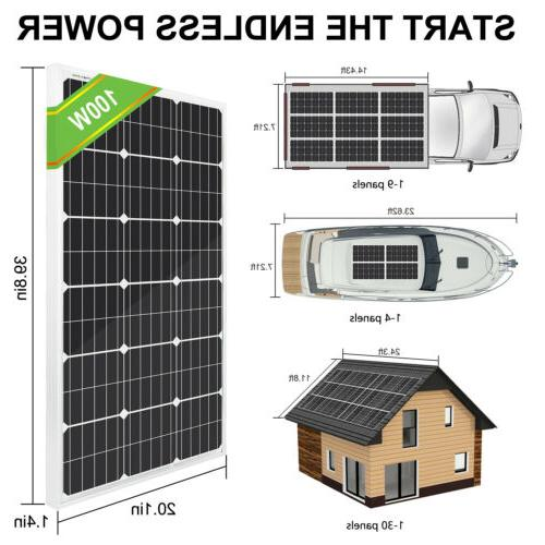 ECO-WORTHY 120W 100 Watt Panel 12V RV