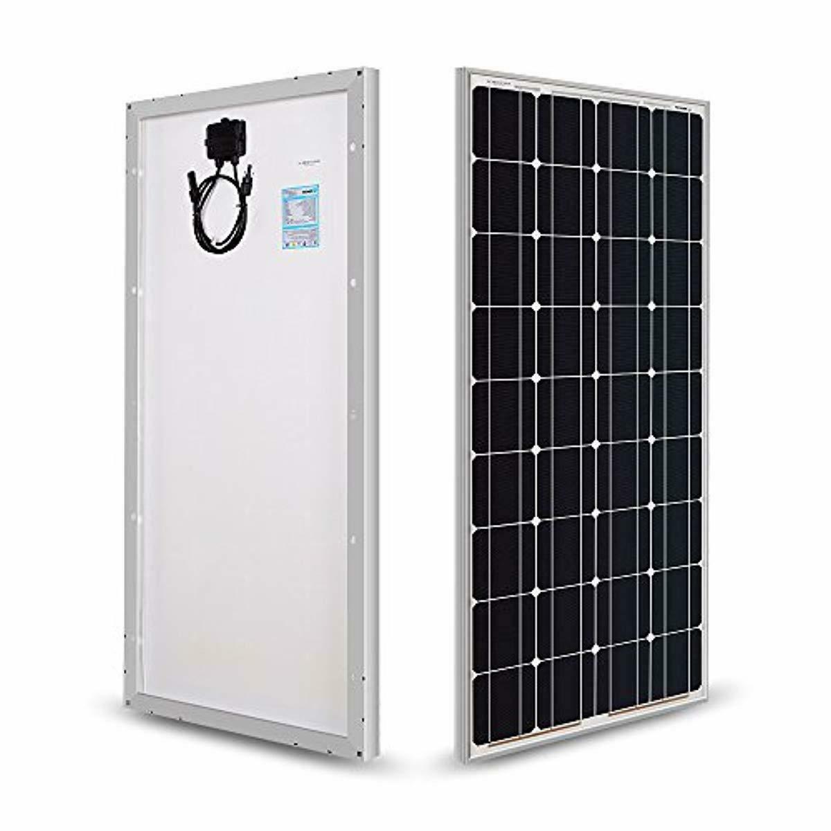 100 watts 12 volts monocrystalline solar panel